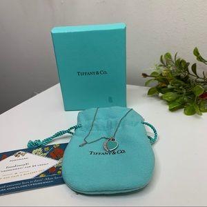 Tiffany and Co Blue Mini Double Heart Pendant